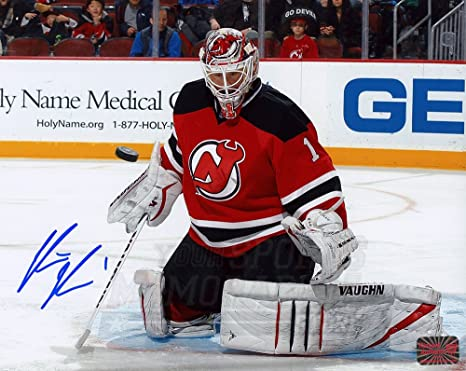 new arrival e8edb 19db1 Keith Kinkaid New Jersey Devils Signed Autographed Home ...
