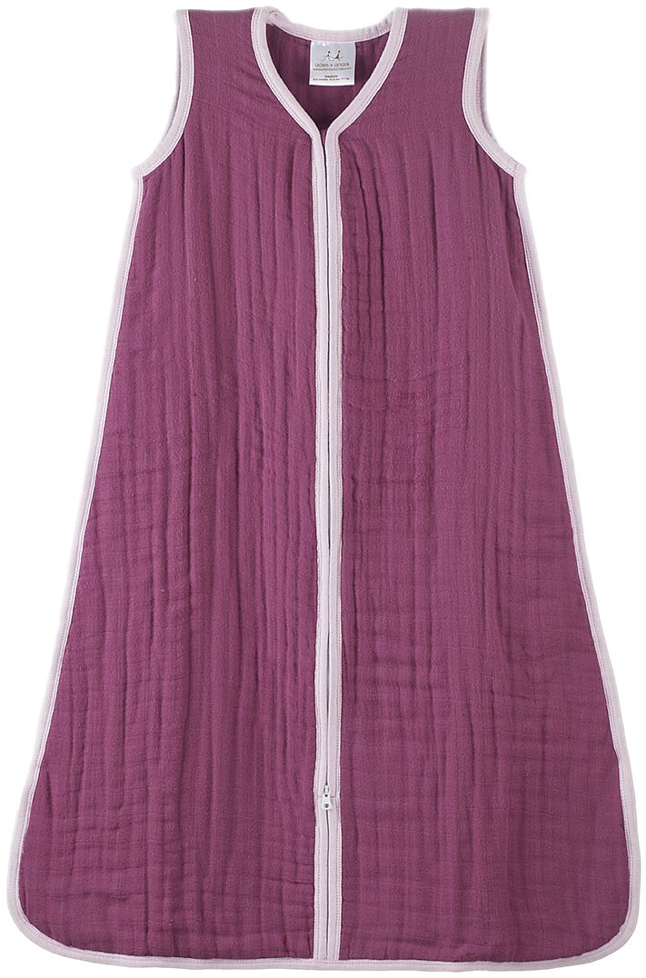 Aden + Anais Cozy Muslin Sleeping Bag, Orchid Angel, Small
