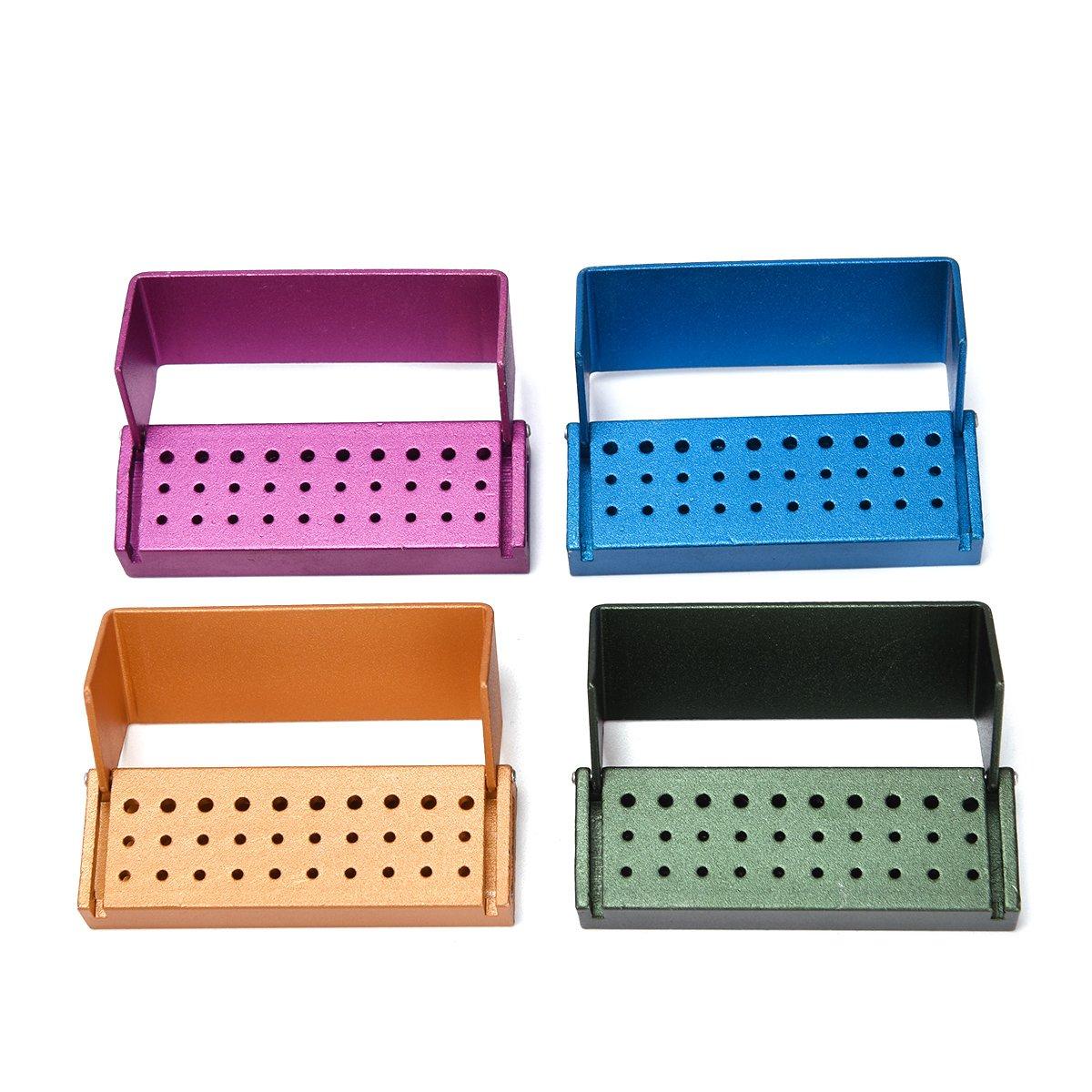 Annhua Dental 30-Hole Bur Block File Holder Organizer with Random Colour