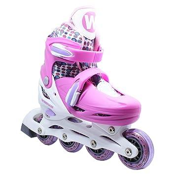Roller Skates Amazon Com >> Wiisham Fun Roll Adjustable Canvas Roller Skates With Four Piles