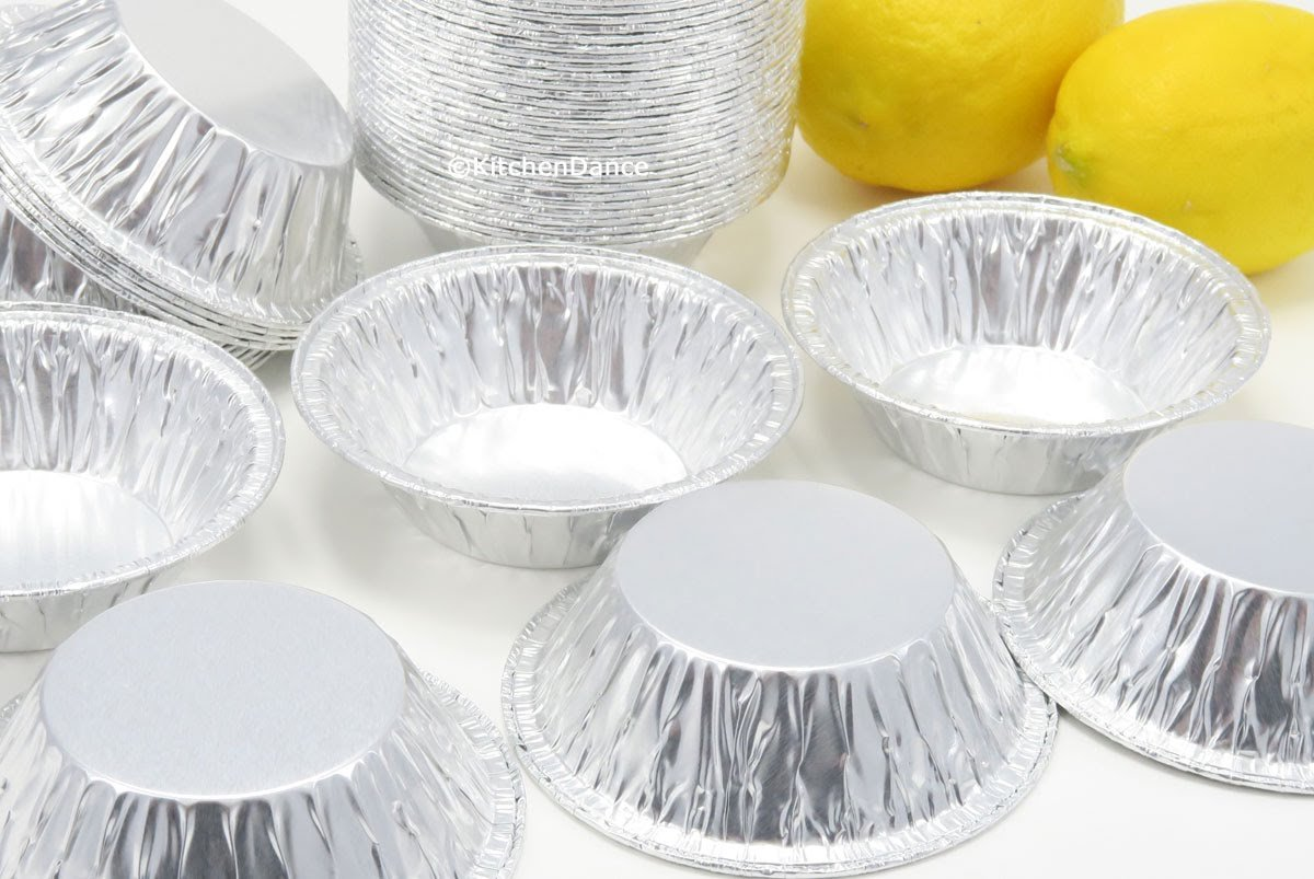 KitchenDance 3'' Disposable Aluminum Tart Pans/Mini Pie Pans #301- Pack Of 100