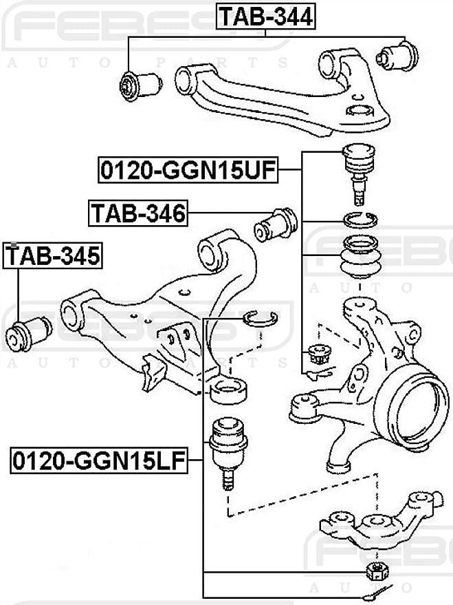 Amazon Com Febest Tab 346 Front Lower Arm Bushing Automotive