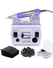 MAKARTT 30000RPM Electric Nail File Manicure Pedicure Kit Including Drill Bits and Foot Pedal Acrylic Nail Drill Machine Low Heat Low Noise Low Vibration