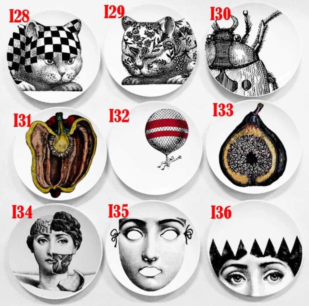 qnmbdgm Fornasetti Dekoration Kreatives Designmuster Italien Mailand Rosenthal Piero Fornasetti Platten Keramik Wandbehang Dekorative Platten Euro Stlye Skulpturen