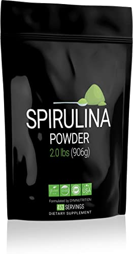 Spirulina 2000mg 2lbs 452 Servings Manufactured in a cGMP-Registered Facility in USA Non-GMO, Vegan Gluten Free