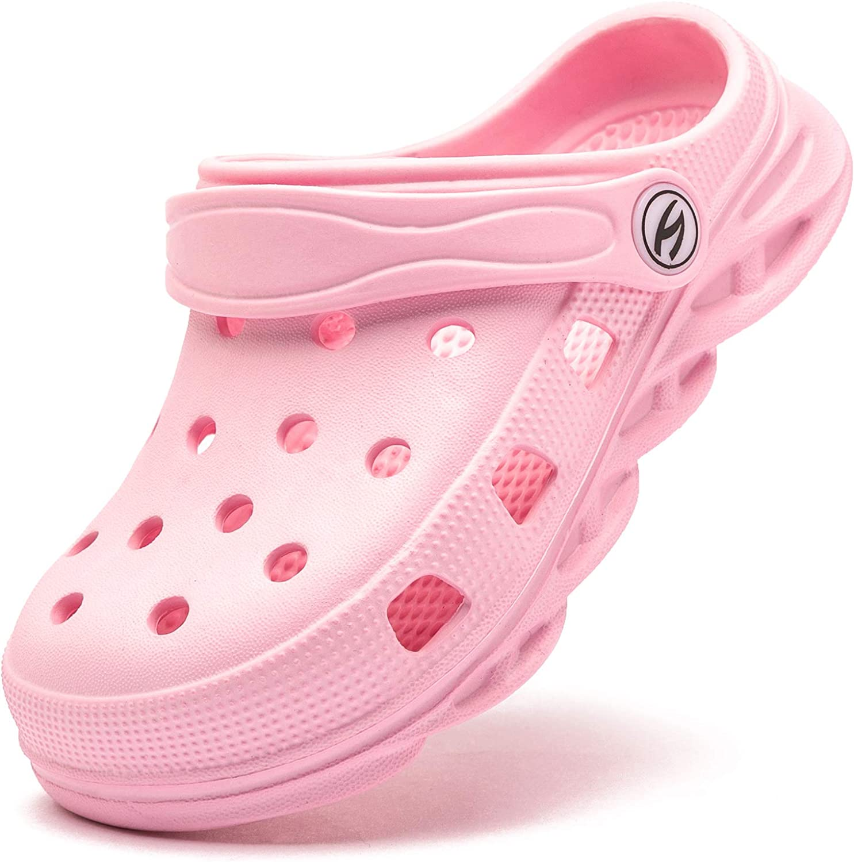 HOBIBEAR Boys Girls Classic Graphic Garden Clogs Slip on Water Shoes
