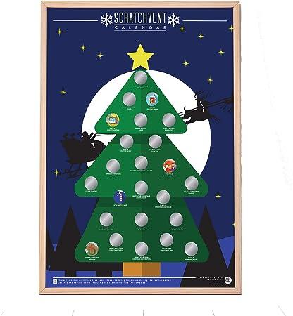 Scratchvent - Póster de Adviento de Navidad para rascar