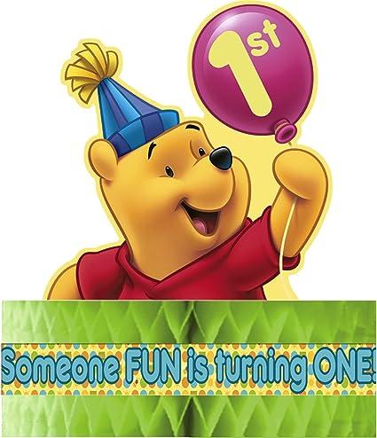 Amazon.com: Winnie the Pooh globo primer cumpleaños centro ...