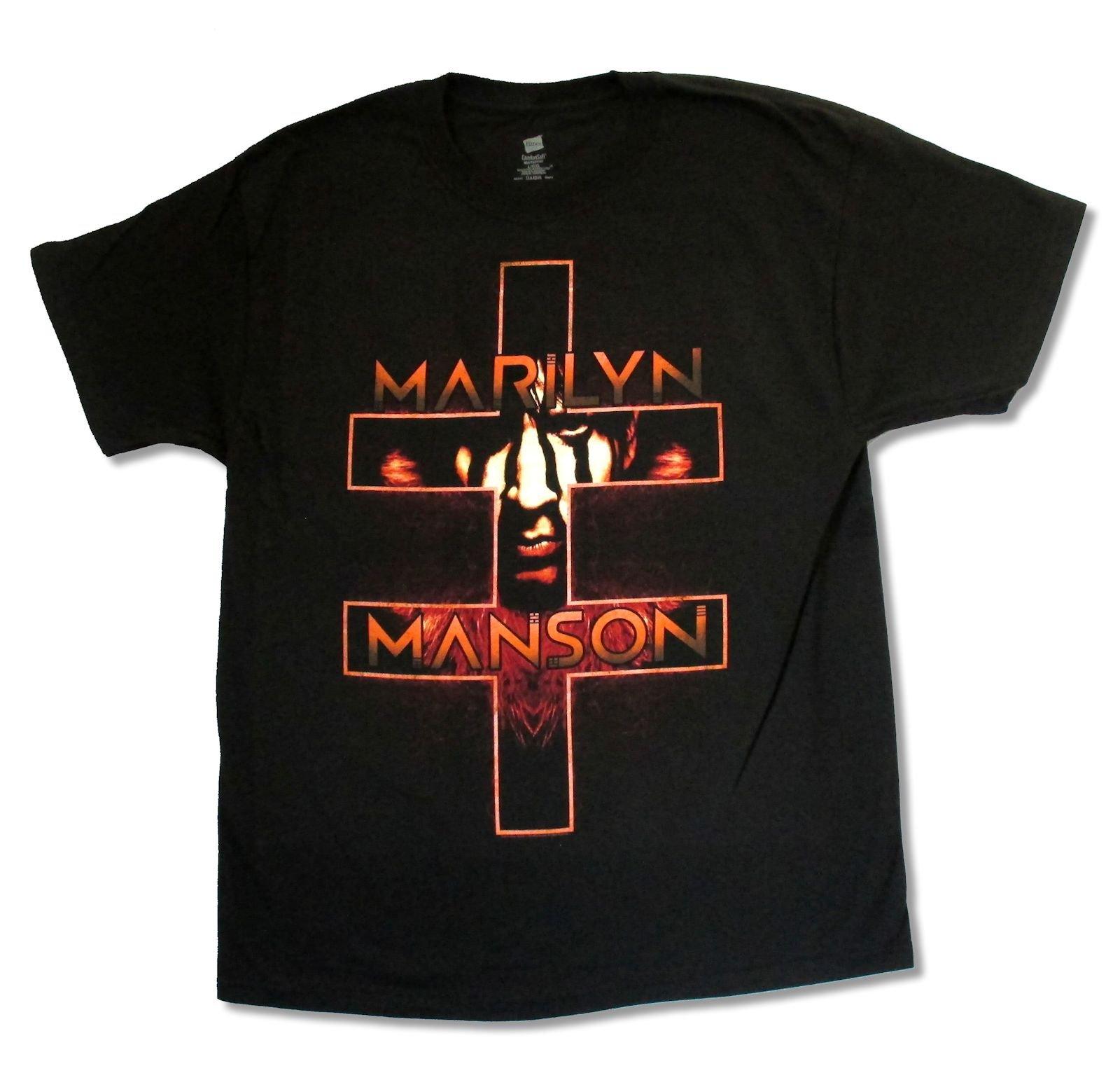 Adult Marilyn Manson Double Cross Tour T Shirt 3603