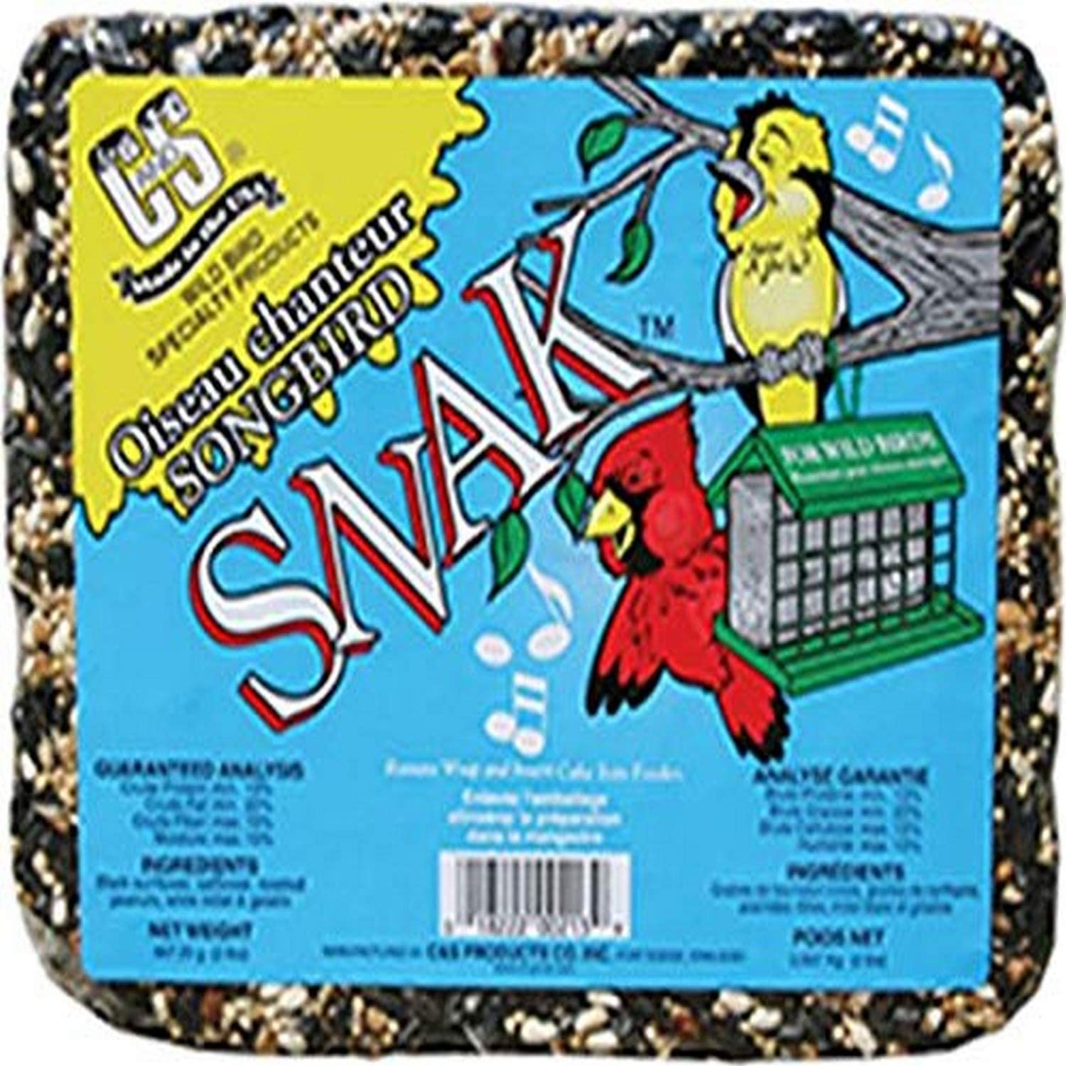 C & S CS06213 Songbird Snak, 2-Pound with Peanut Suet Nuggets