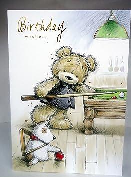 Carte Bonne Fete Ours.Bon Anniversaire Happy Birthday Brillant Moderne Motif Ours