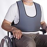 Arnés chaleco de sujeción tipo peto, para silla de ruedas, sillas y sillones de descanso, para personas con inestabilidad,