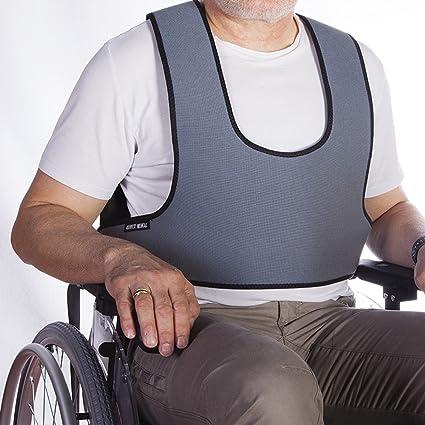 Mobiclinic Arnés Chaleco de sujeción Tipo Peto | para Silla de Ruedas, sillas y sillones