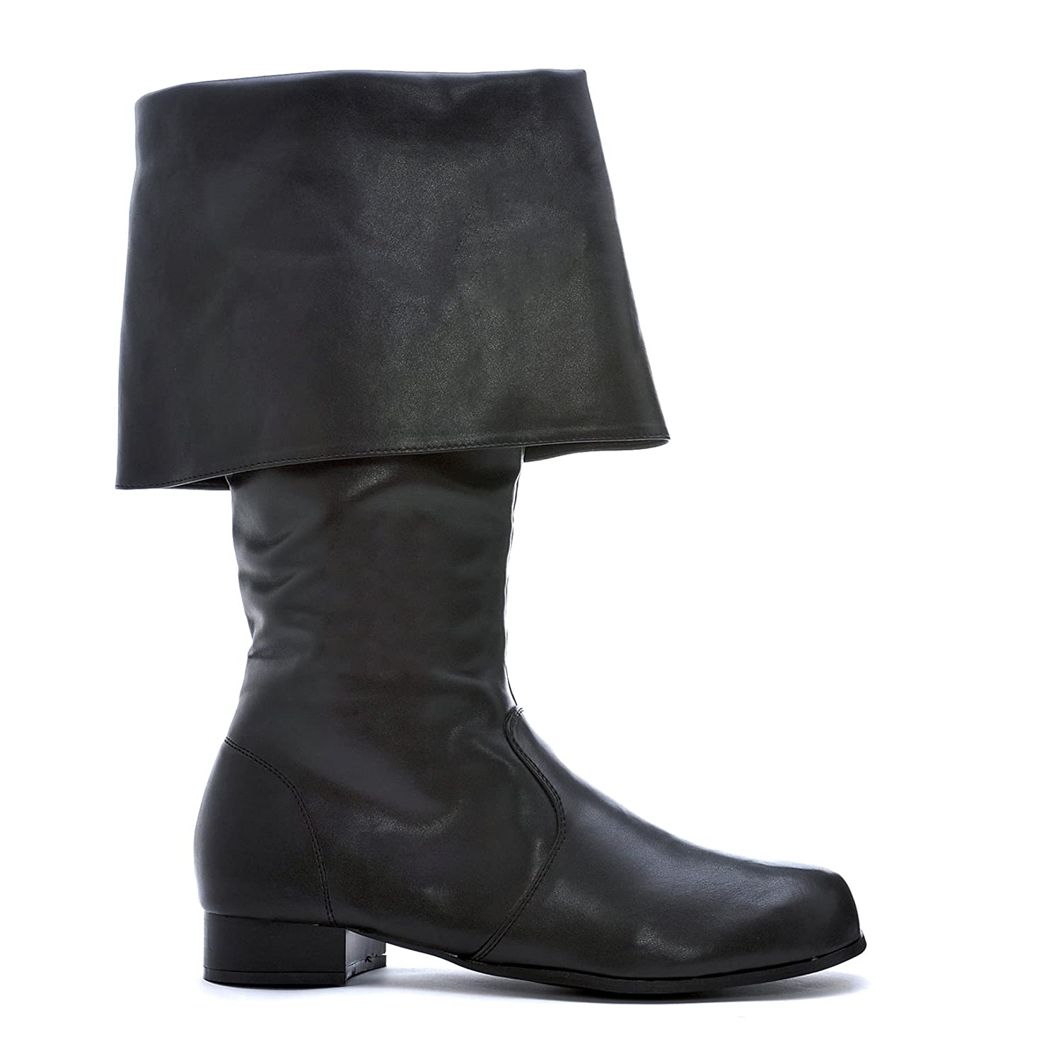 Women's Black Fold Down Faux Leather Pirate Boots - DeluxeAdultCostumes.com