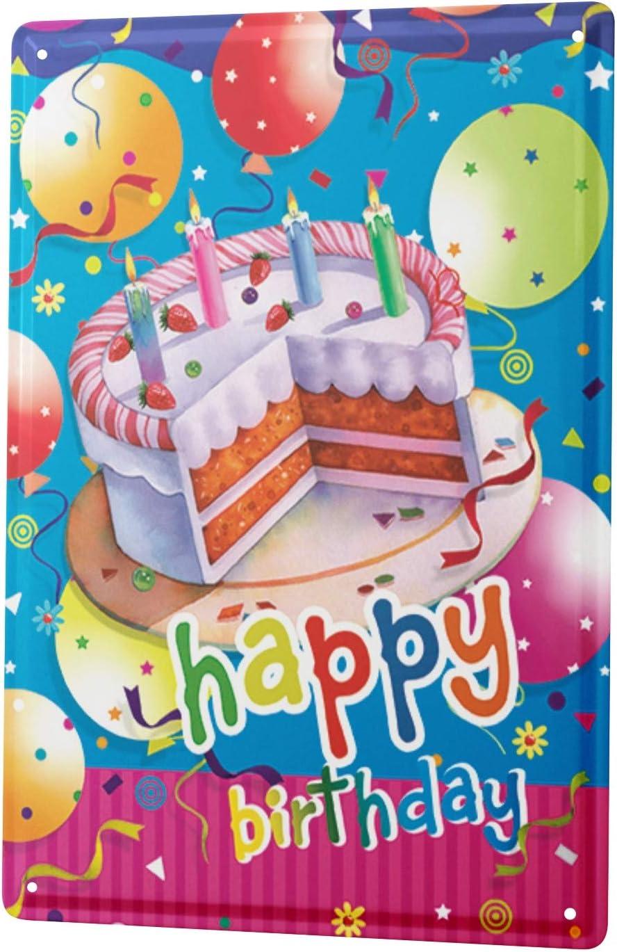 Peachy Tin Sign Fun Birthday Card Shield Happy Birthday Cake Metal Funny Birthday Cards Online Elaedamsfinfo