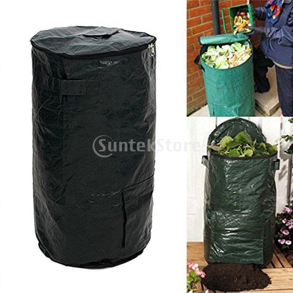 FLAMEER Premium Selbststehend Laubsäcke Gartensack mit Deckel und Reissverschluss für Kompost Abfall Plastik