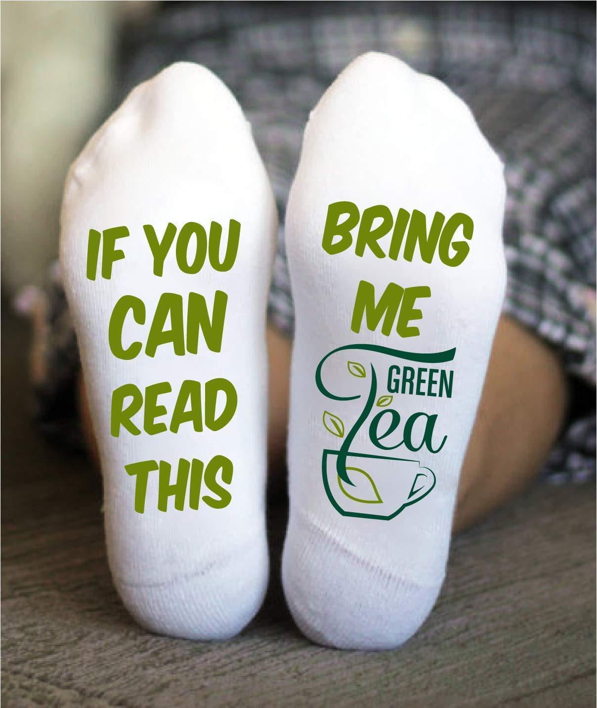 Green Tea Socks Grandmother Mother Birthday Christmas Gift
