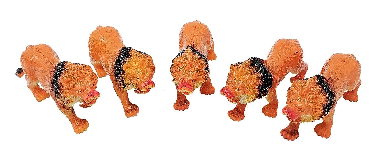 6.5 5 Pcs Lion Jungle Zoo Animal