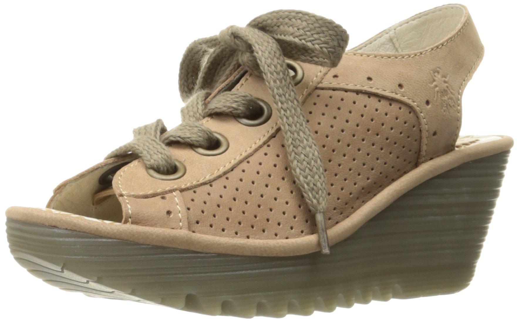 FLY London Women's Yuta617fly Platform Sandal, Beige Cupido, 38 EU/7.5-8 M US
