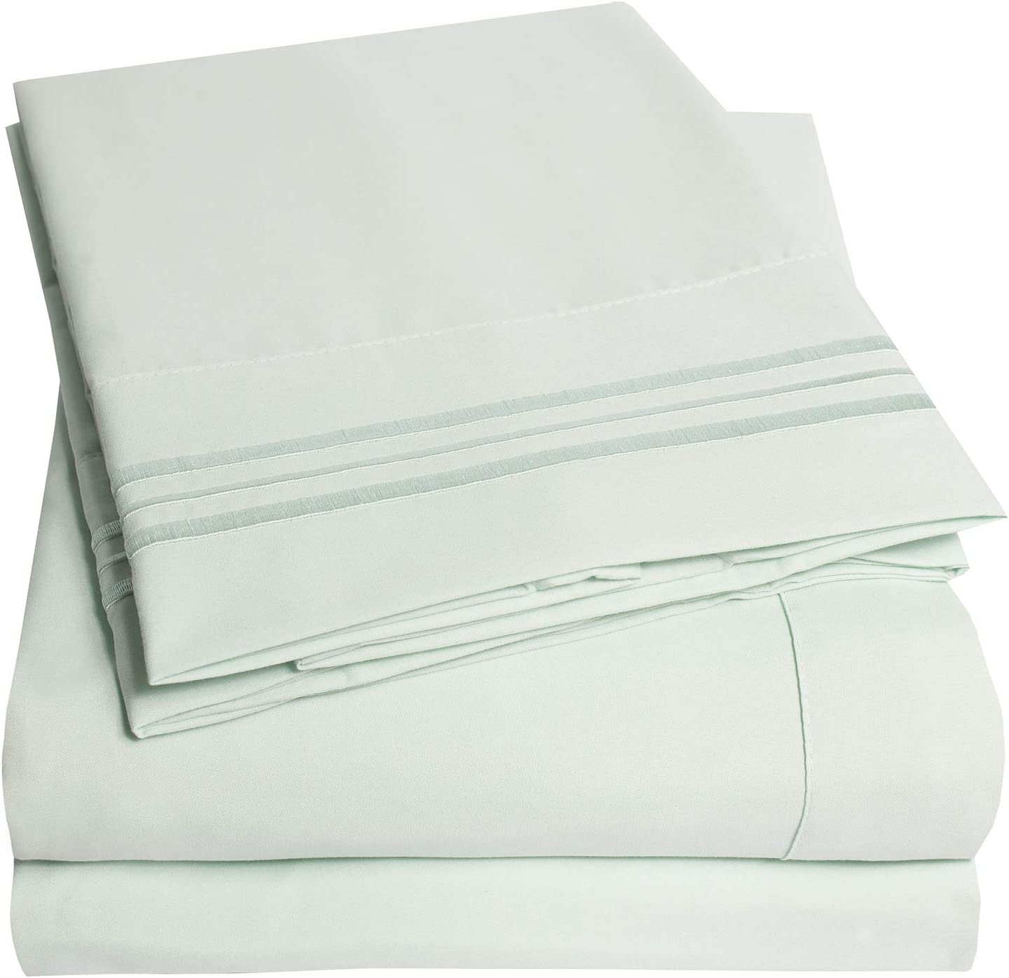 1500 Supreme Collection Bed Sheets Set - Luxury Hotel Style 4 Piece Extra Soft Sheet Set - Deep Pocket Wrinkle Free Hypoallergenic Bedding - Over 40+ Colors - California King, Mint