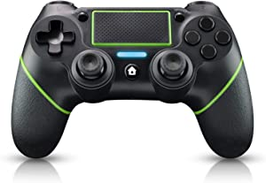 Diswoe Wireless Controller Bluetooth Gamepad for Playstation 4/Pro/Slim/PC Laptop(7/8/8.1/10) with DUALSHOCK Motion Motors, Audio Function, Touch Panel Joypad and Anti-Slip Design (Green)