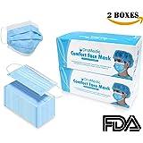 Disposable Earloop Face Mask-Dental, Surgical, Medical, Allergies, Antiviral, Flue, Travel 100 pcs/2 Boxes Blue