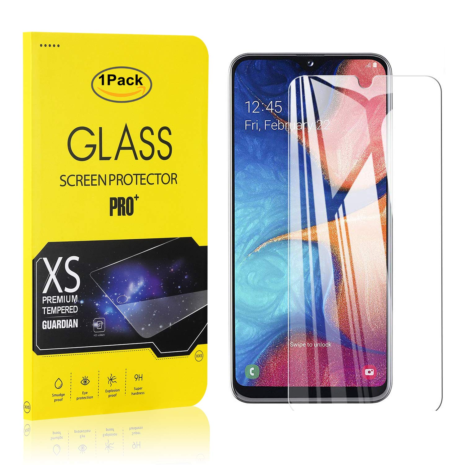 Easy Installation 1 Pack The Grafu Galaxy A20e Tempered Glass Screen Protector High Transparency Screen Protector for Samsung Galaxy A20e Bubble Free