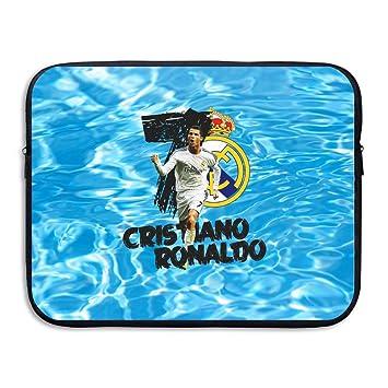 Real Madrid CF CR7 Cristiano Ronaldo funda para ordenador portátil, color negro negro 15 pulgadas: Amazon.es: Libros