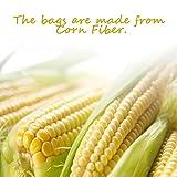 ToiM 200pcs Disposable Filter Bags Corn Fiber