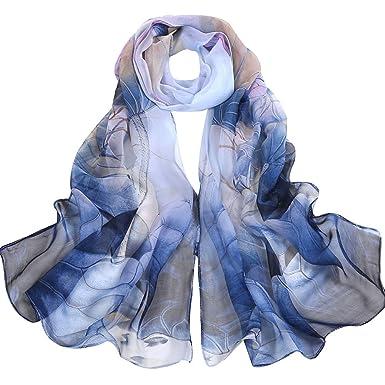 Nursing Scarf Lotus Breastfeeding Cover Silk Scarf