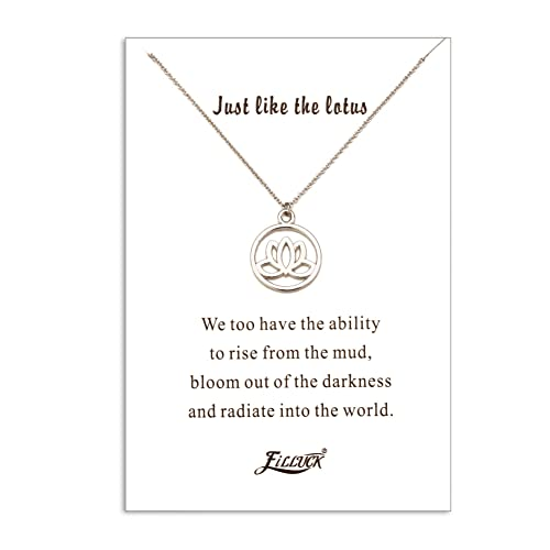 Amazoncom Filluck Lotus Necklace Gift Lotus Pendant Lotus Flower