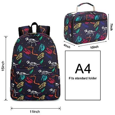 UK 3D Dinosaur Boys Sport Backpack Print School Bags Book Bag For Kids