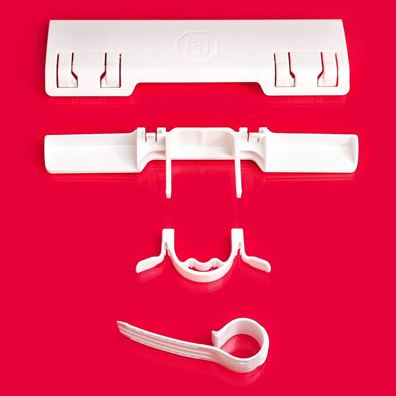 N/°1 des dispositifs de s/écurit/é pour enfants ISI SAFE NOUVEAU montage sans outils ni per/çage ou collage qui nab/îme pas les fen/êtres. BLANC pour fen/êtres et portes de terrasse ou balcon