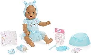 Baby Born Interactive Doll – Green Eyes with 9 Ways to Nurture, Multicolor