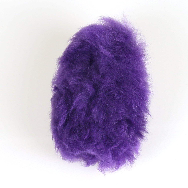 Firwood Universal Luxury Plush Faux Wool Woolen Steering Wheel Cover Case Handbrake Guard Shift Knob Skin 3 in 1 Kit Purple