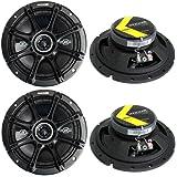 """4) Kicker 41DSC674 D-Series 6.75"""" 480W 2-Way 4-Ohm Car Audio Coaxial Speakers"""
