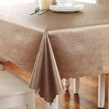 Manteles Sencillo Toalla de Tela Cubierta de café Planta Flores Elegante romántico Art estética Textiles de Cocina (Size : 160cm Round (to be Spliced)): ...