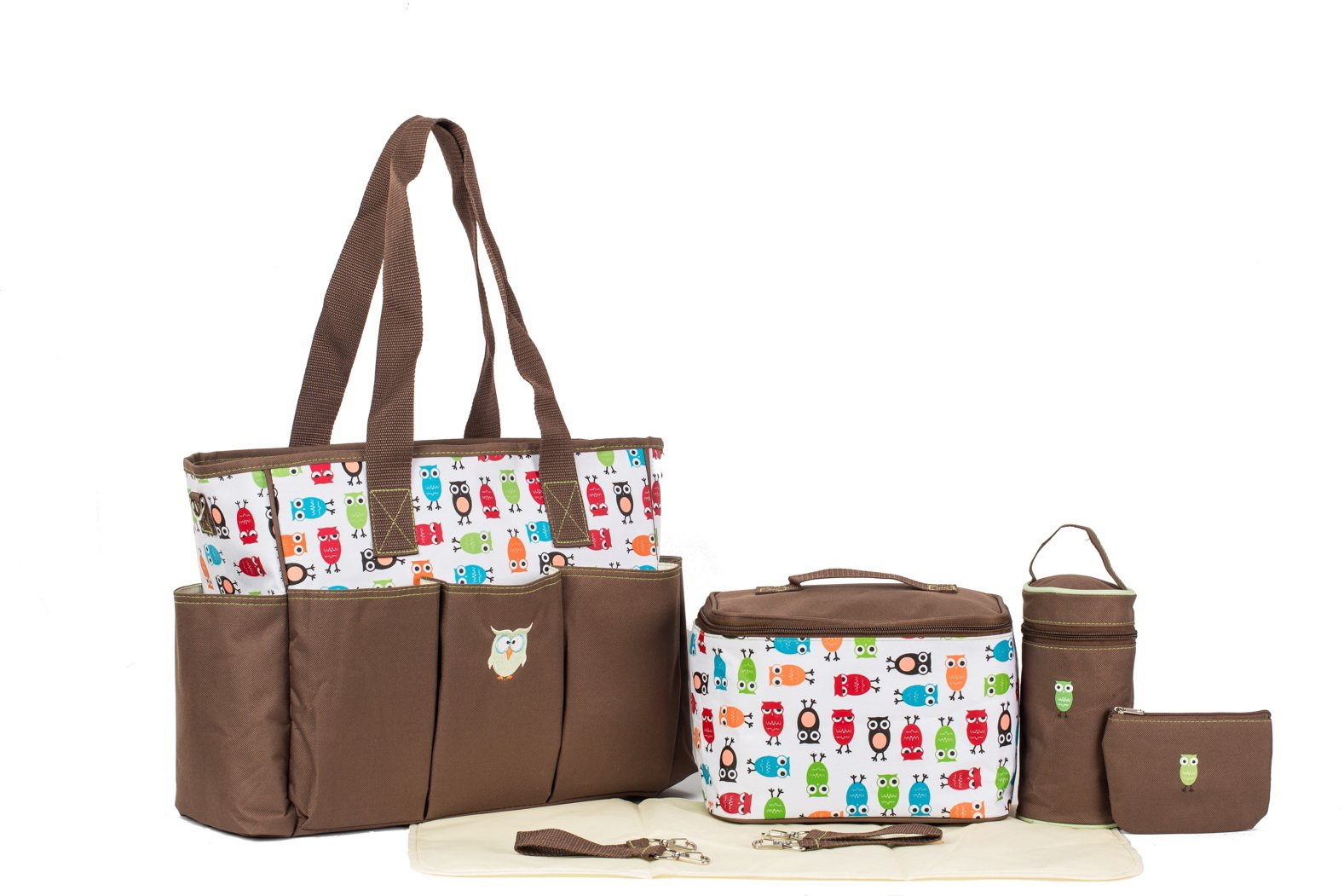 diaper bag designer brands 8r2c  Brand New SoHo, Soren The Owls 7 in 1 Deluxe Diaper Bag *Limited time  offer*