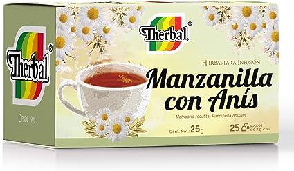 Therbal Infusion 25 Sobres Manzanilla Con Anis Mx