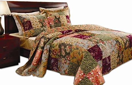 Amazon.com: Greenland Home Antique Chic King Quilt Set: Home & Kitchen : what is a quilt set - Adamdwight.com