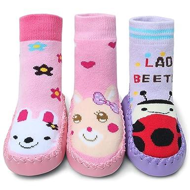 Antislip Girl Slippers Adorel 3 Socks PackAmazon 5FKcJ3ulT1