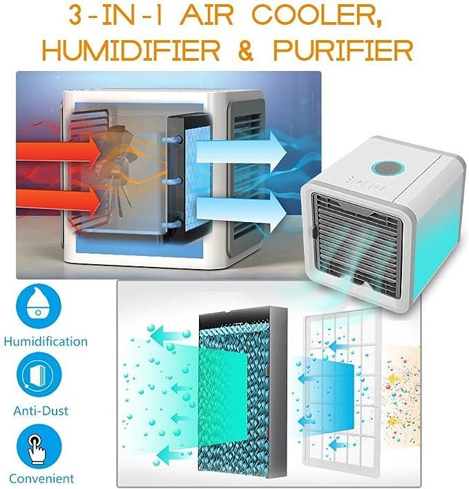 Climatizador Evaporativo Aire Acondicionado Ventilador Mini Móvil ...