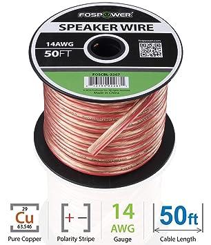 FosPower Lautsprecherkabel 14AWG Prämie: Amazon.de: Elektronik
