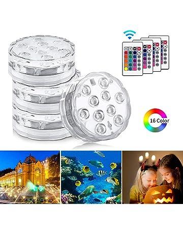 Badewanne perfk RGB LED Licht Unterwasser Teichbeleuchtung Lichter mit Fernbedienung Aquarium Pool Wasserdichte f/ür Garten Vase