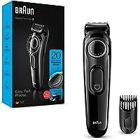 Braun Beard Trimmer BT3222, Beard Trimmer and Hair Clipper, 20 Length Settings, Black