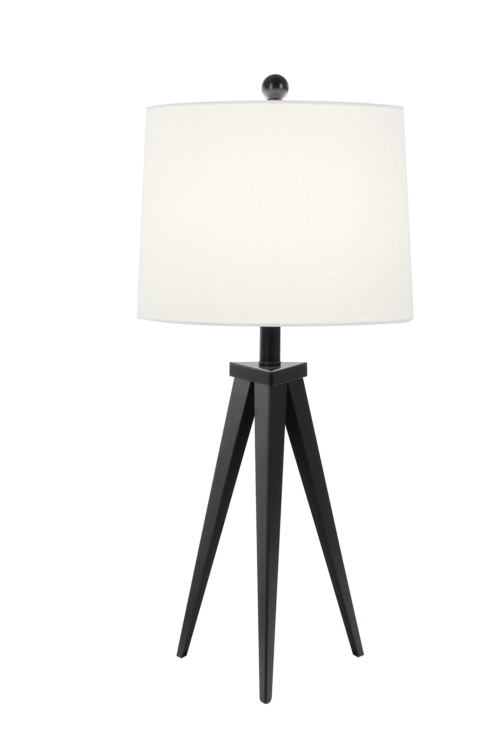 Deco 79 58652 Iron Tripod Table Lamp, White/Black
