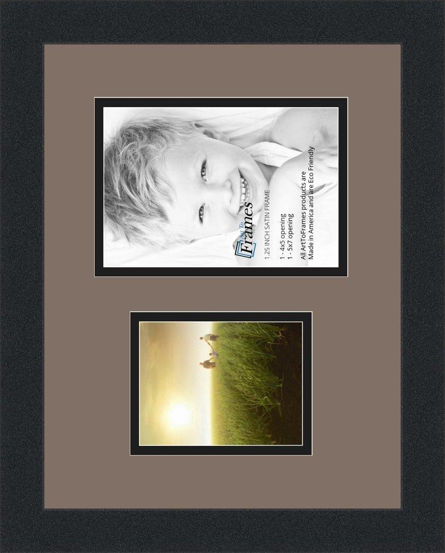 Amazon.de: arttoframes Collage Fotorahmen Rahmen Doppel-Matte mit 2 ...