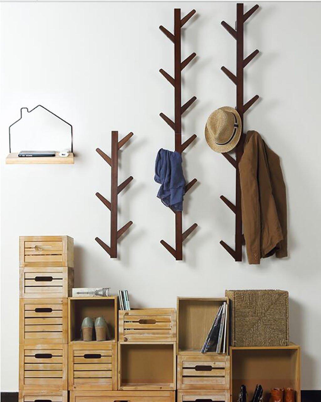 Ymj Coat Rack Garment Hanger Creative On The Wall Solid Wood Hook Hanger Bedroom Wall Living Room Wall Hanger Drying Racks (Color : B, Size : 72278cm) by Ymj (Image #3)
