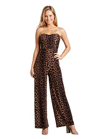 f2c07793f887 Leopard Print Bardot Jumpsuit: Amazon.co.uk: Clothing