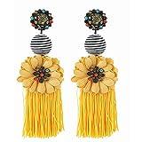 EVBEA Tassel Earrings Womens Statement Yellow